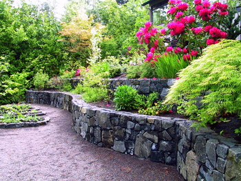 Commercial Residential Landscape Construction - Eugene, Oregon - Water Features - Stone Landscape Projects