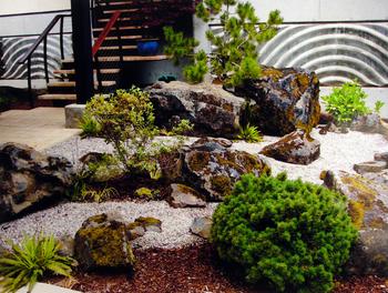 Functional Dry Creek Drainage System, Stonework